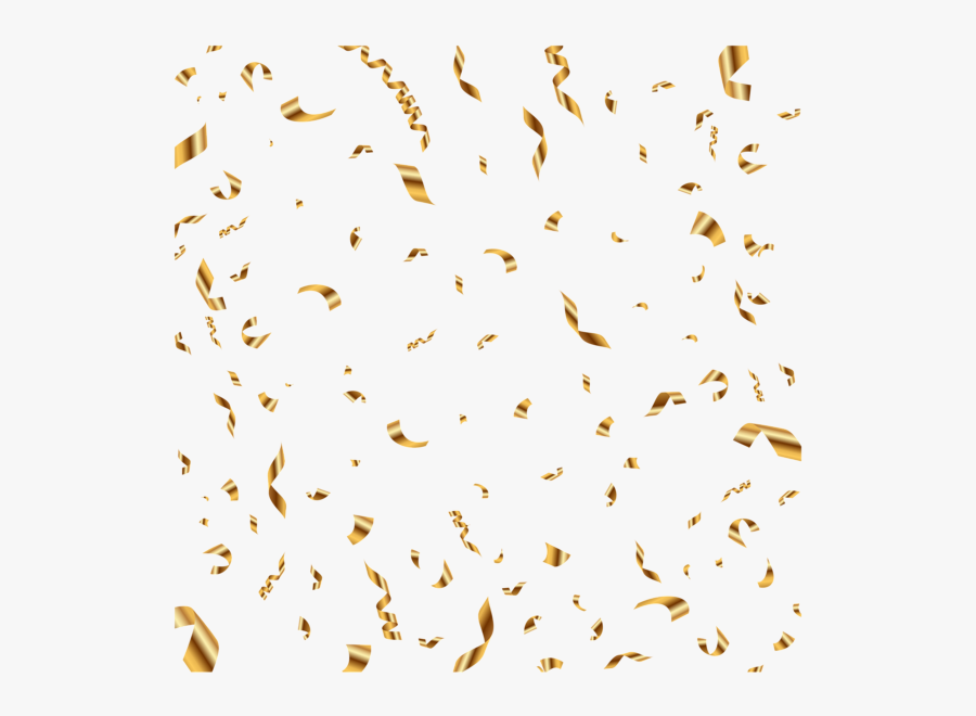 Transparent Background Gold Confetti Png, Transparent Clipart