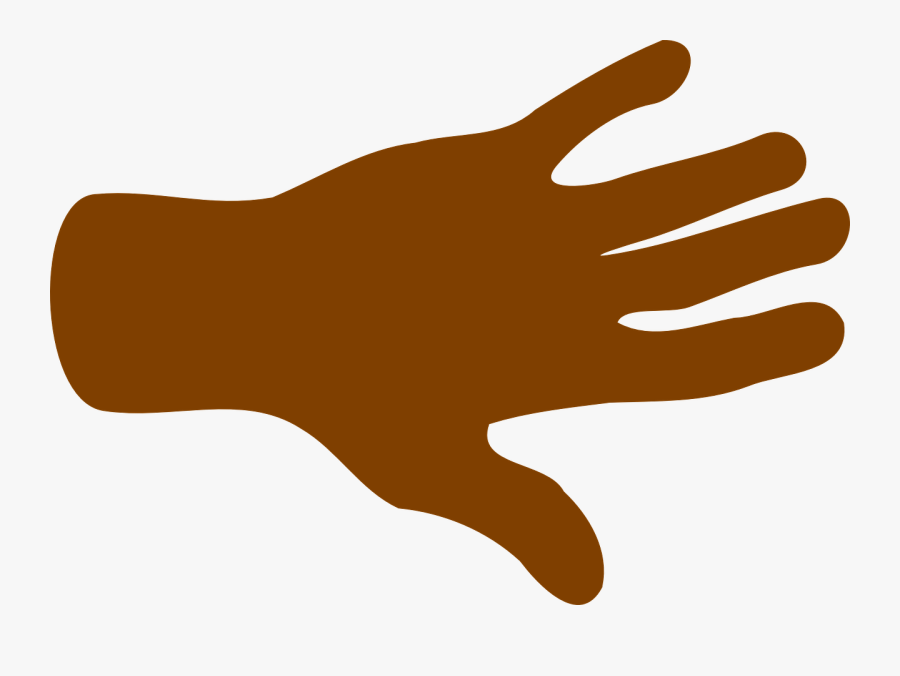 Hand, Palm, Fingers, Black, Open, Spread, Brown - Hand Clipart And Arm, Transparent Clipart