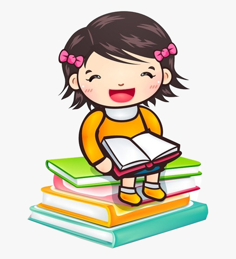 Reading Child Girl Book Clip Art - Girl Reading A Book Cliparts, Transparent Clipart