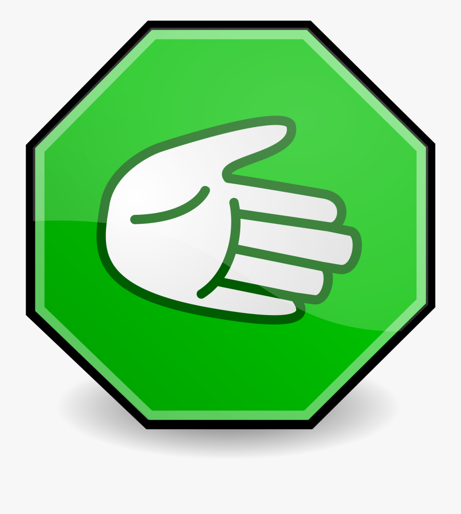 Go Hand Sign Clipart , Png Download - Go Hand Sign, Transparent Clipart