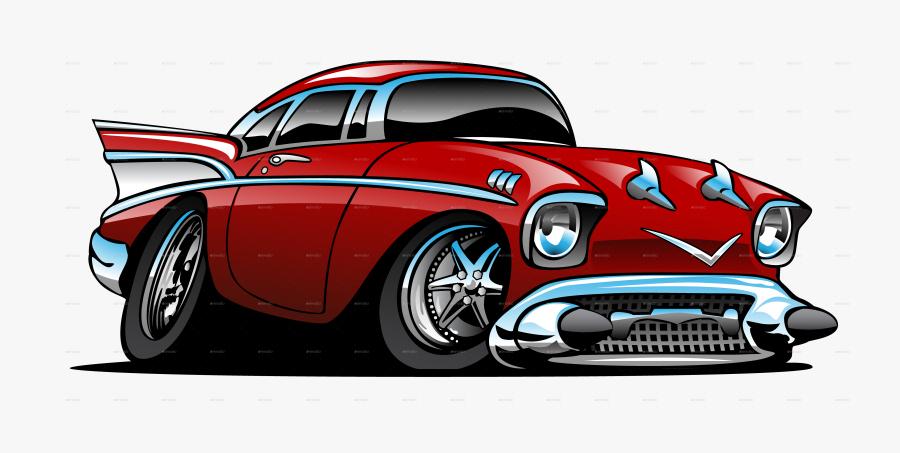 Clip Art Cartoon Hotrod - Hot Rod, Transparent Clipart