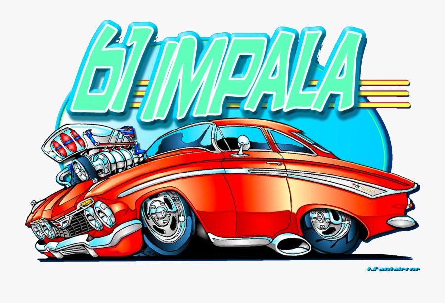 Chevrolet Impala Clipart Street Rod - Chevrolet Hot Rod Art, Transparent Clipart