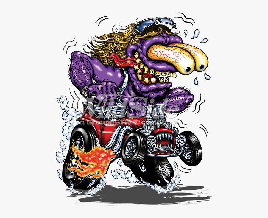 Transparent Hotrod Clipart - Hot Rod Cartoon T Shirts, Transparent Clipart