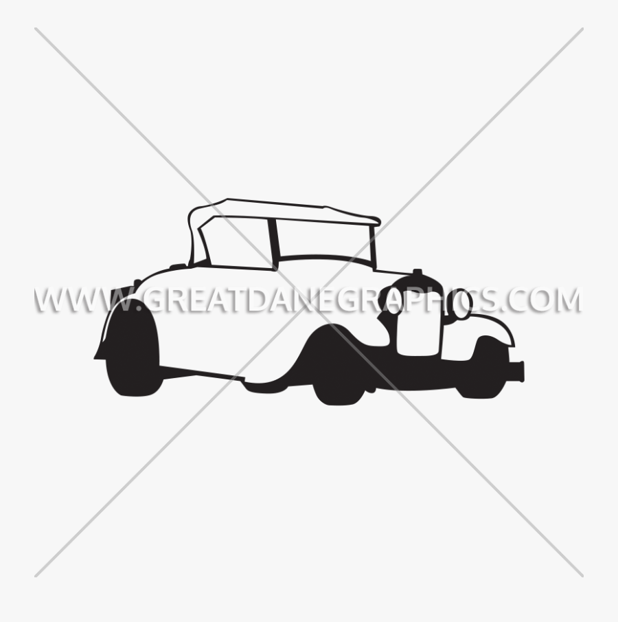 Vector Stock Hot Rod Clipart Black And White - Illustration, Transparent Clipart