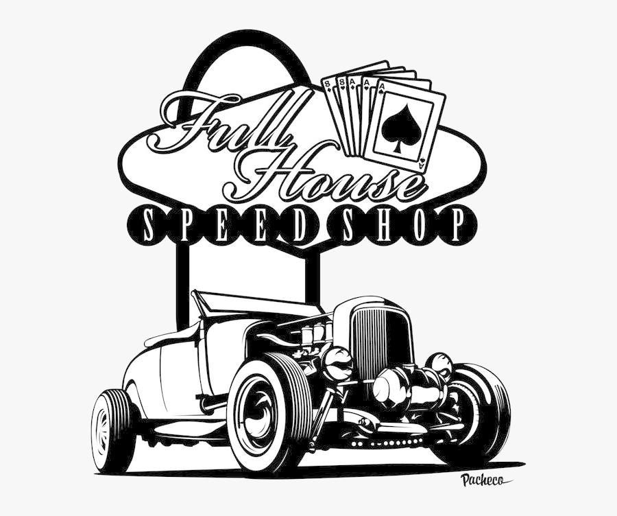Hot Rod Car Drawings Free Best On Transparent Png - Black Hot Rod Art, Transparent Clipart