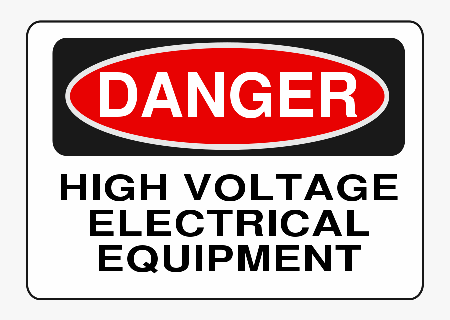High Voltage Electrical Equipment - Warning Do Not Open, Transparent Clipart
