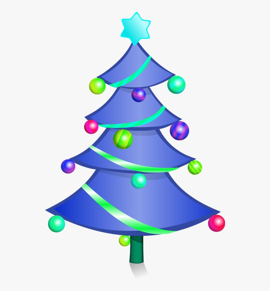Decorated Christmas Tree Vector Clip Art Fp04ea Clipart - Clipart Simple Christmas Tree, Transparent Clipart