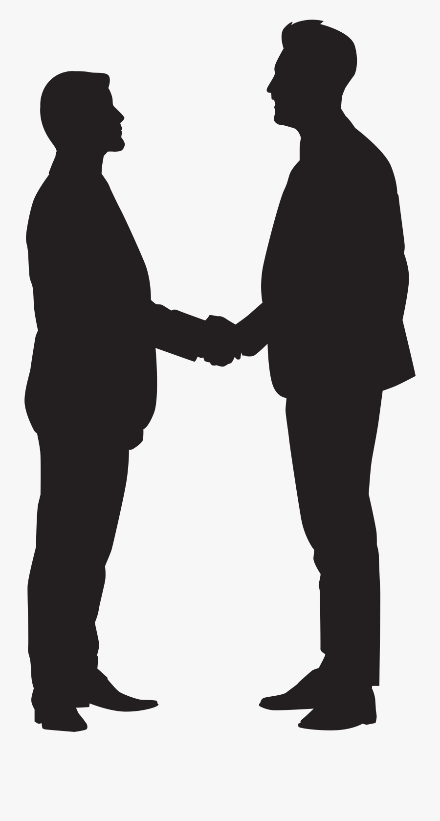 Men Shaking Hands Silhouette Png Clip Art Imageu200b - Men Shaking Hands Clipart, Transparent Clipart