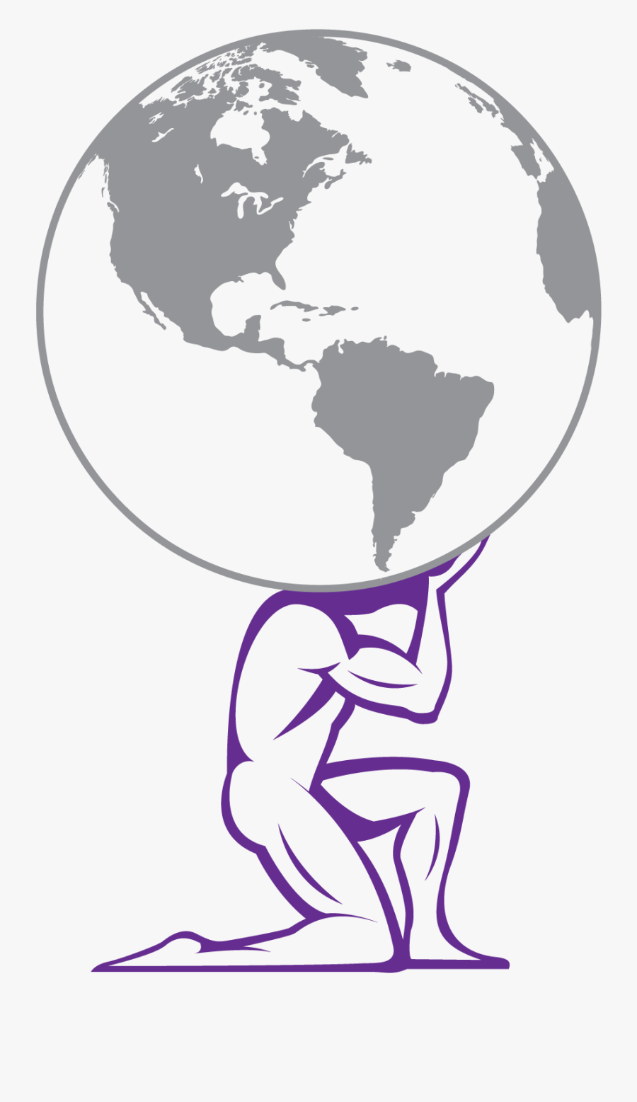 Transparent World Clipart - Atlas Holding Up The World Clipart, Transparent Clipart