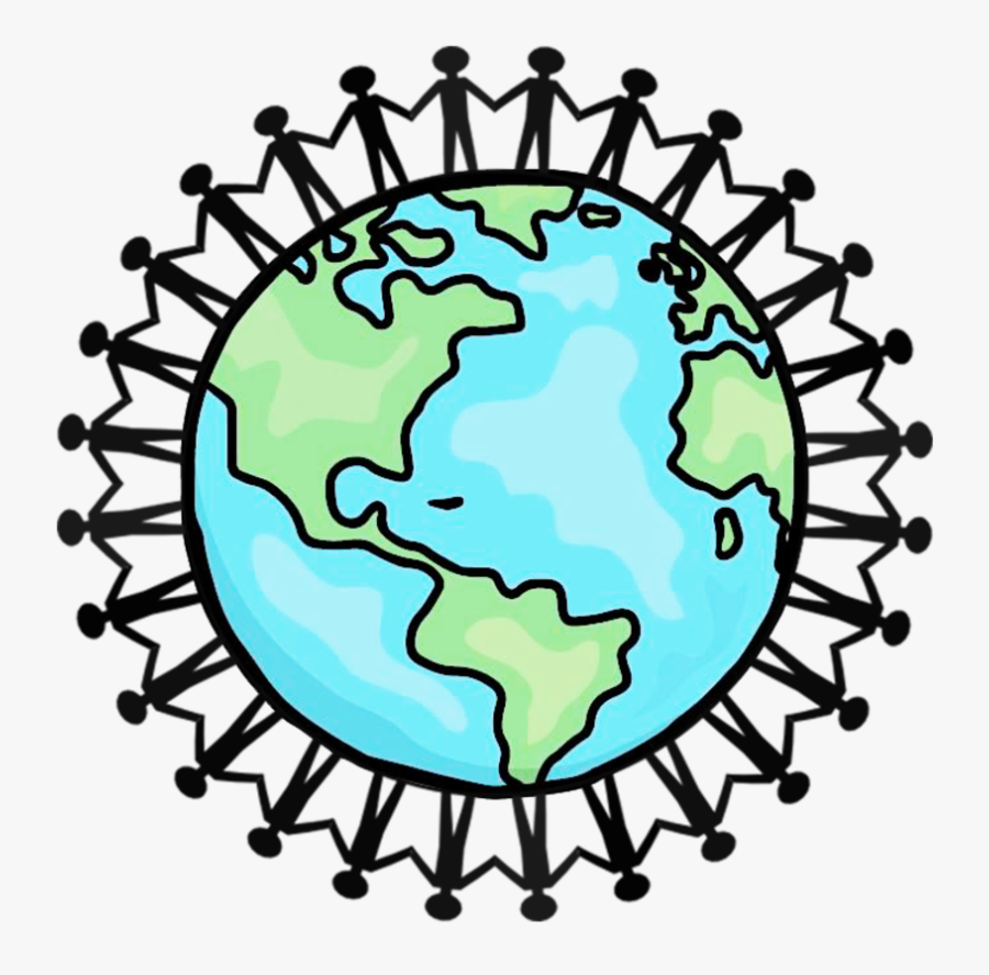 Will Be Able To Better Understand The Problems Of Patients - Drawing People Holding Hands Around The World, Transparent Clipart