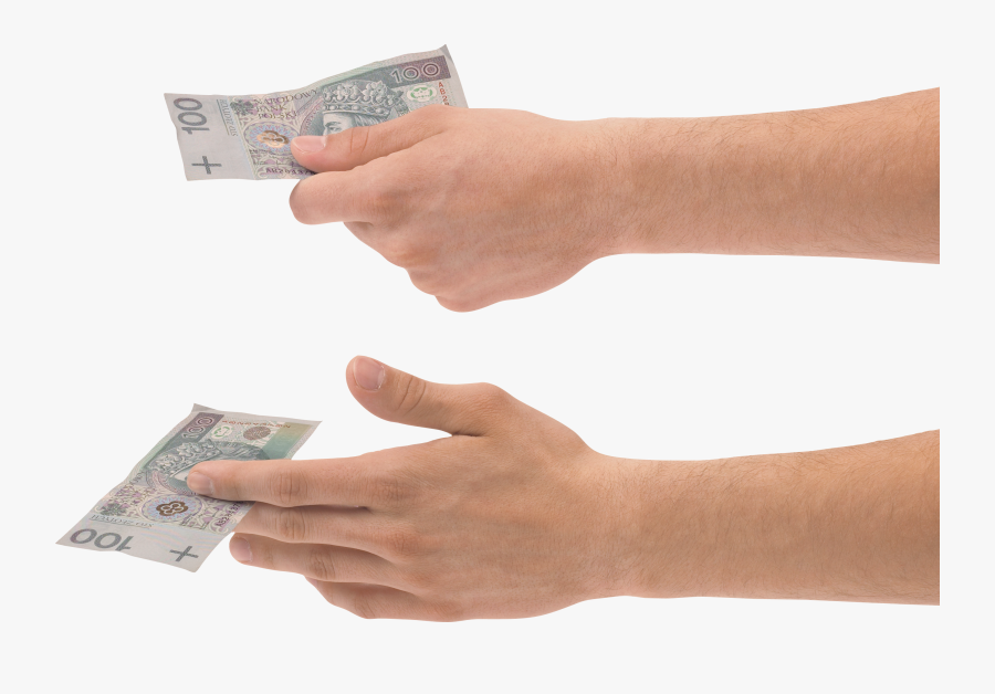 Hand Holding Money Two - Hands Holding Money Png, Transparent Clipart