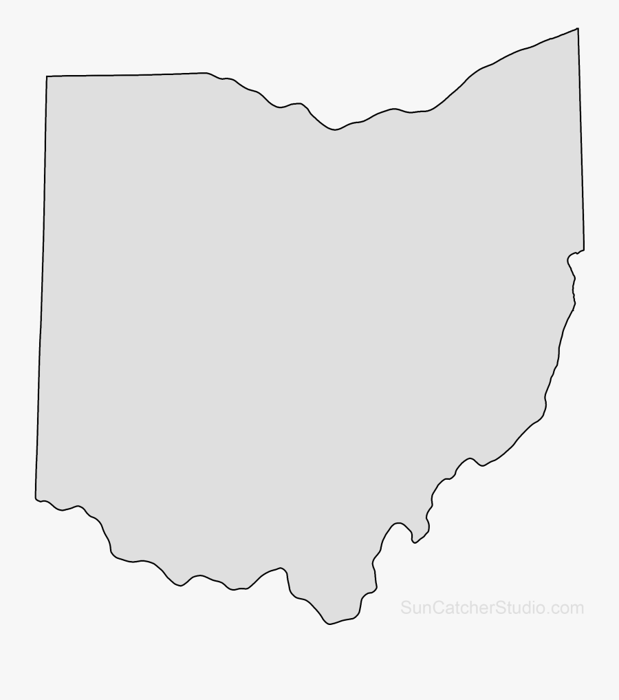 Outline Png Ohio State Map, Transparent Clipart