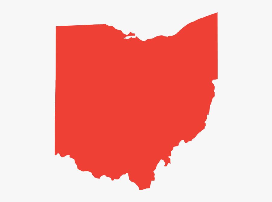 Ohio State University Cleveland Clip Art - Ohio Silhouette Vector, Transparent Clipart