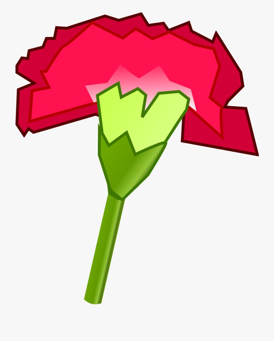 Pink,plant,flower - Cartoon Carnation, Transparent Clipart