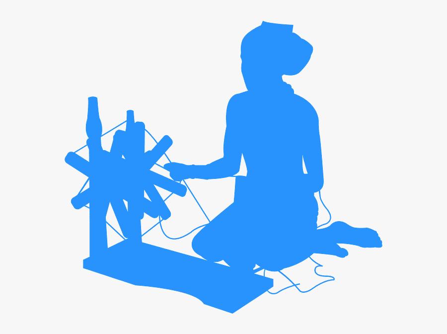 Silueta De Mujer Tejiendo, Transparent Clipart
