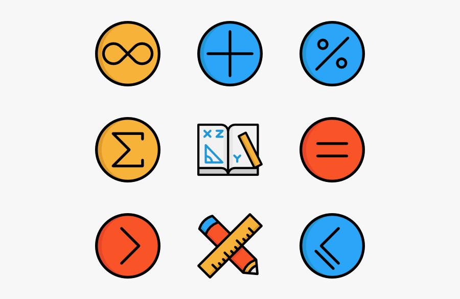 Math Symbols Transparent Background, Transparent Clipart