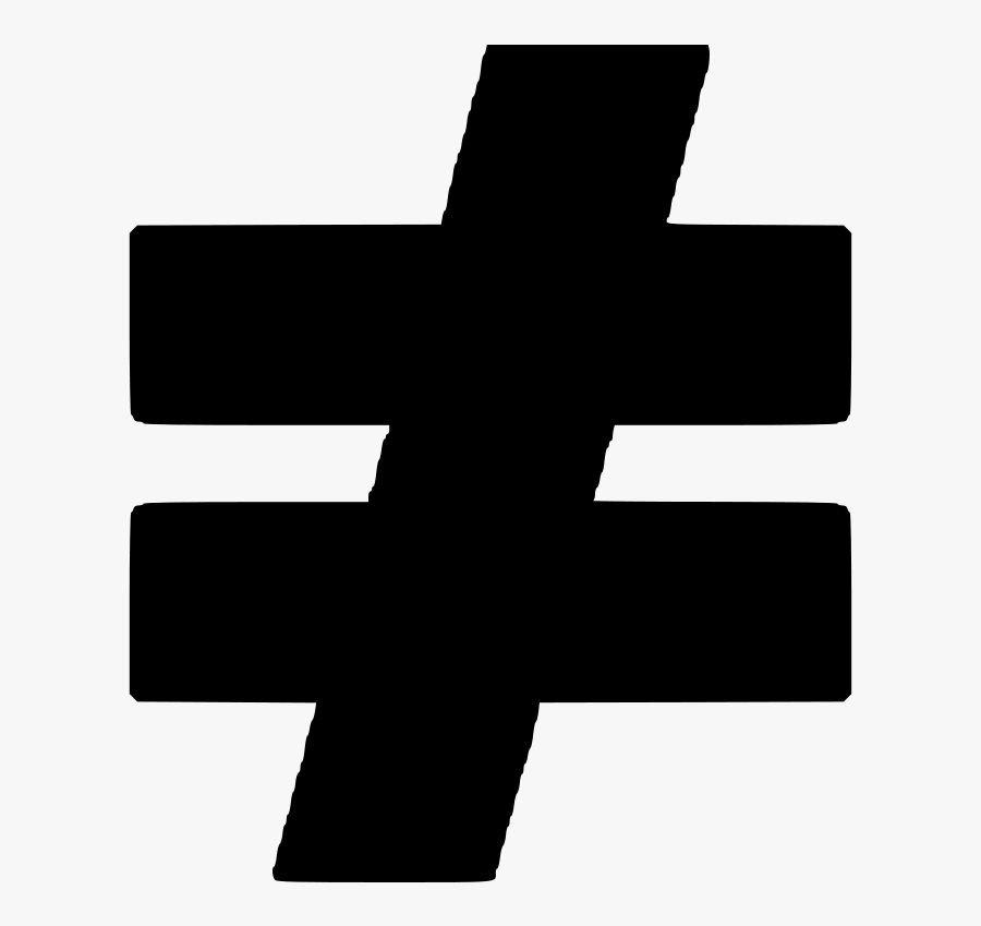 Equals Sign Equality Mathematics Symbol Computer Icons - Cross, Transparent Clipart