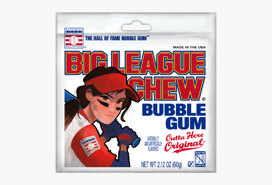 Girl Big League Chew, Transparent Clipart