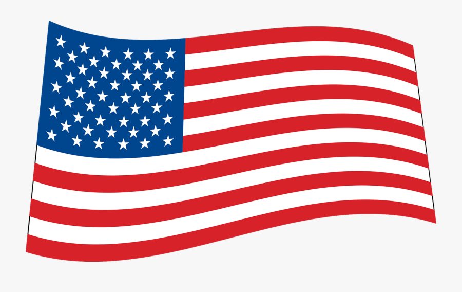 Area,flag,flag Of The United States - American Flag Waving Clipart, Transparent Clipart