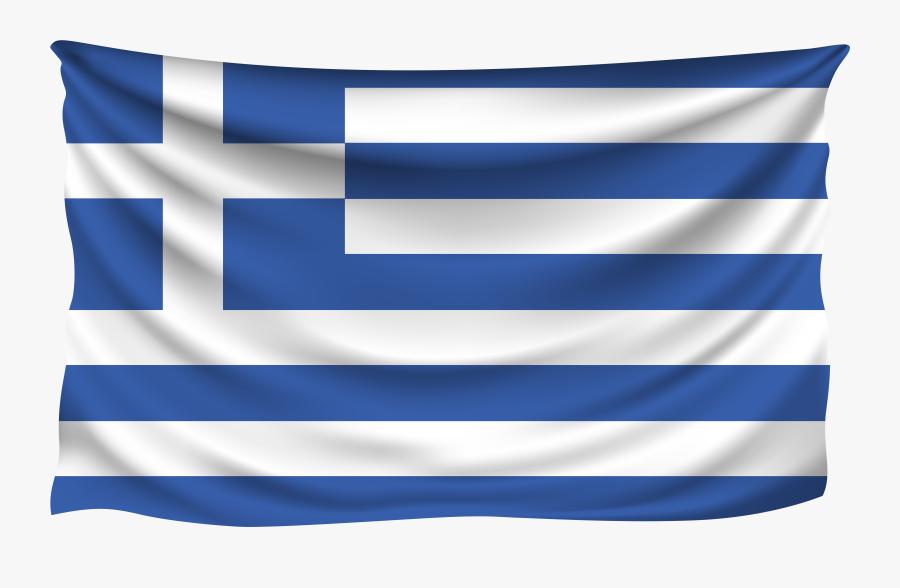 Transparent Flag Day Clipart - Waving Greek Flag Png, Transparent Clipart