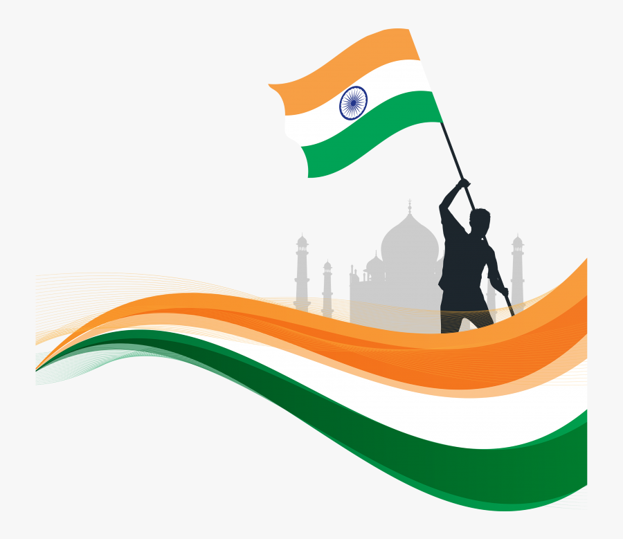Indian Republic Day Flyaing Indian Flag Png - India Flag Vector Png, Transparent Clipart