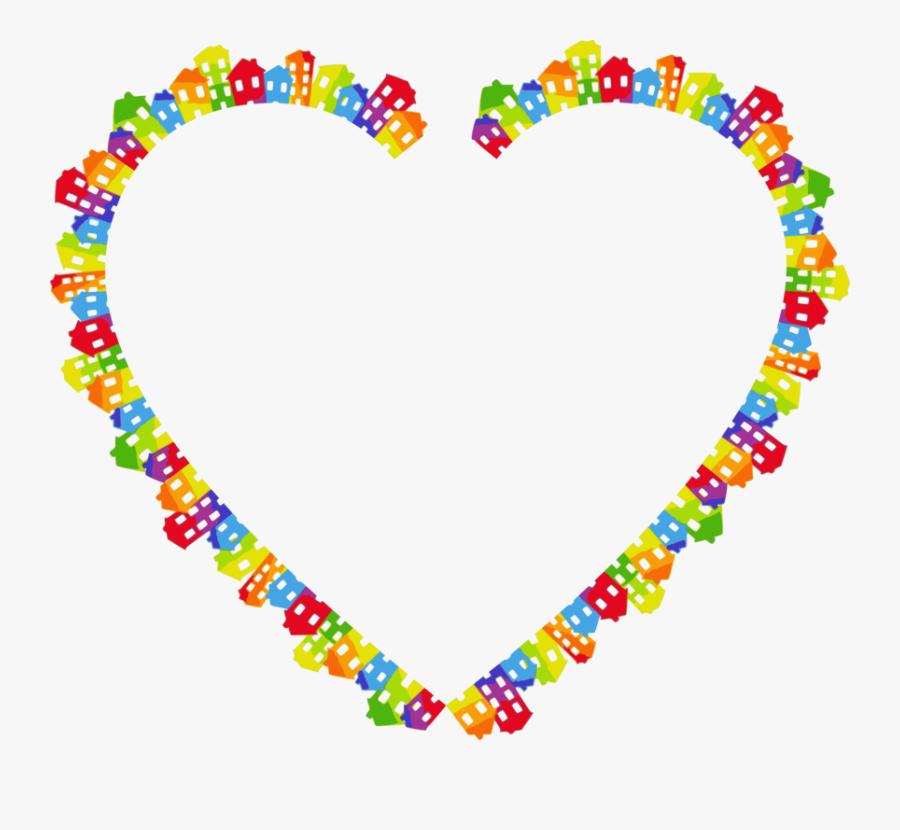 Heart,art,jewellery - Rainbow Glitter Heart Gif, Transparent Clipart