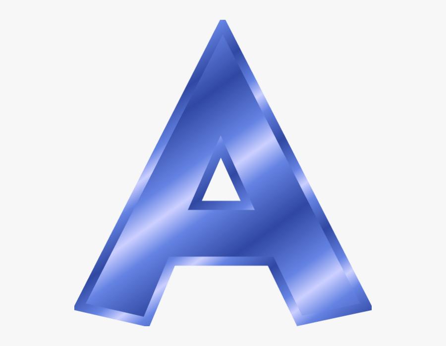 Letter Clipart Blue - Letter A Blue Color, Transparent Clipart