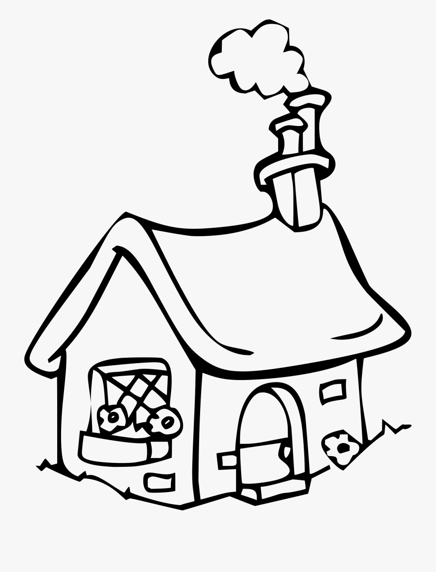 Fairy Tale Cottage - Coloring Pages My Cottage, Transparent Clipart
