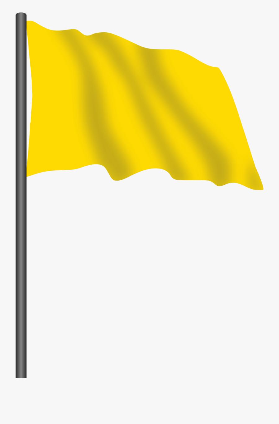 Motor Racing Flag - Yellow Colour Flag Png, Transparent Clipart