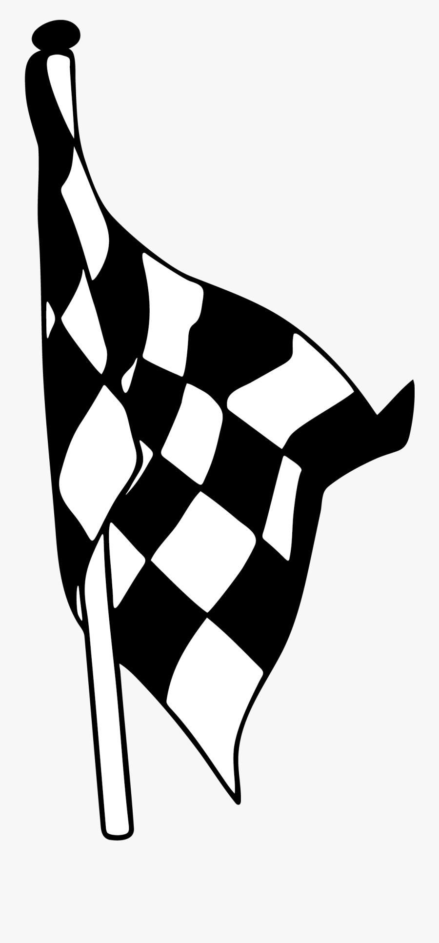 Clip Freeuse Flags Vector Black And White - Racing Flags, Transparent Clipart