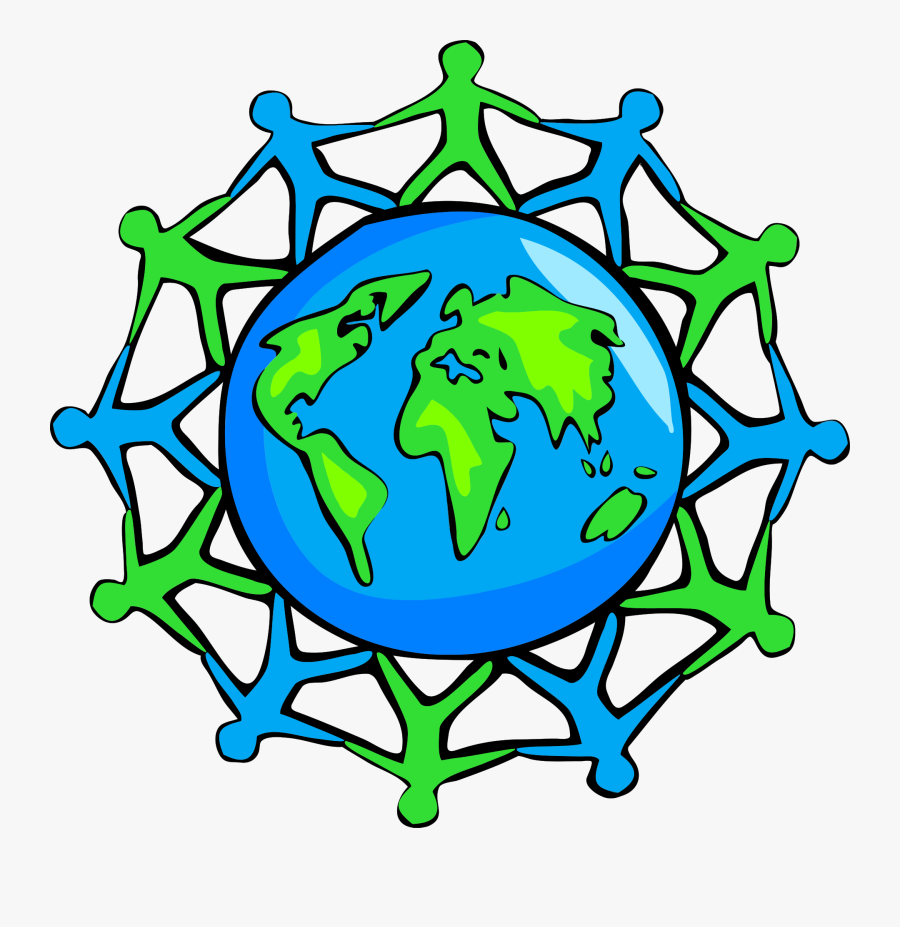 Plant,leaf,symmetry - People Holding Hands Around The World, Transparent Clipart