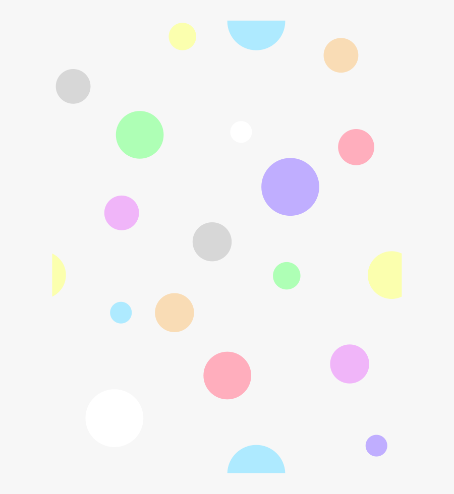 Polka Dots, In Pastel Colors - White And Green Dots, Transparent Clipart