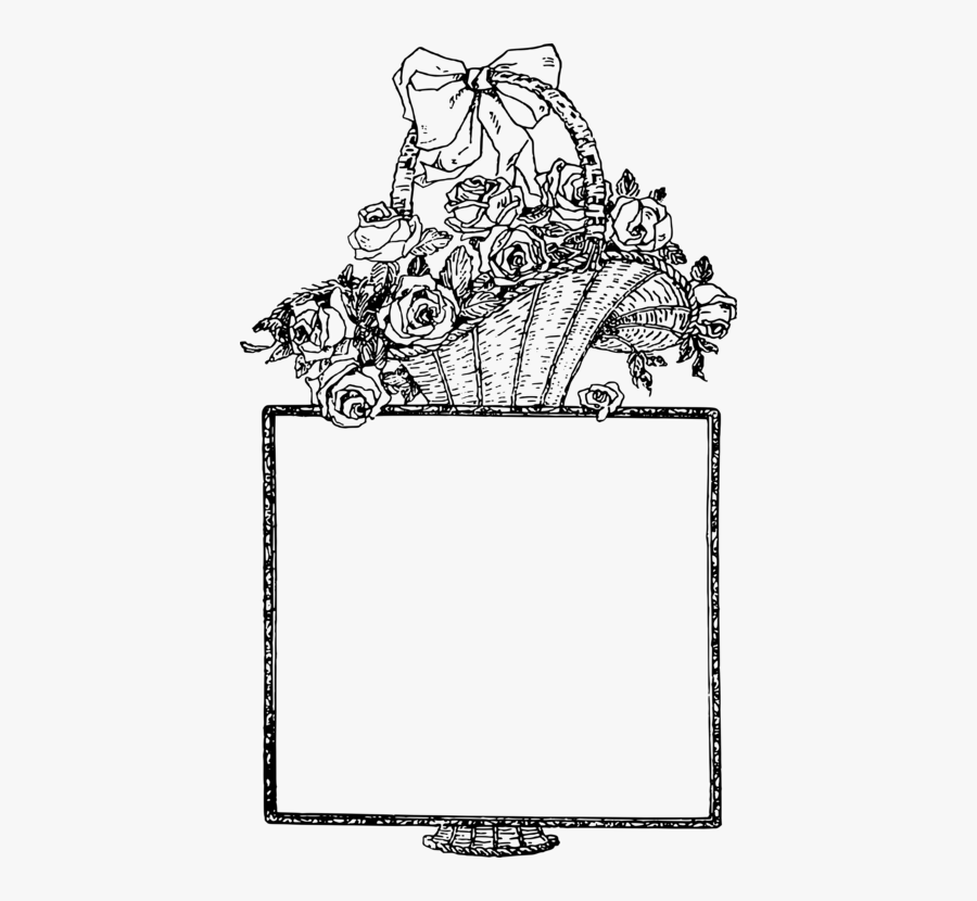 Transparent Easter Basket Clipart Black And White - Line Art, Transparent Clipart