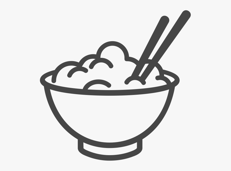 transparent rice clipart black and white bowl of rice icon free transparent clipart clipartkey transparent rice clipart black and