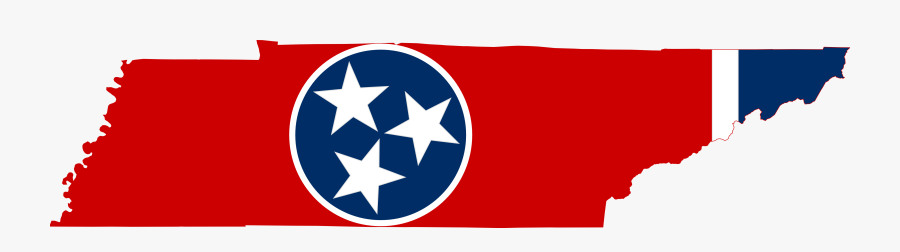 Tennessee Clip Art - Tennessee State Flag Map, Transparent Clipart