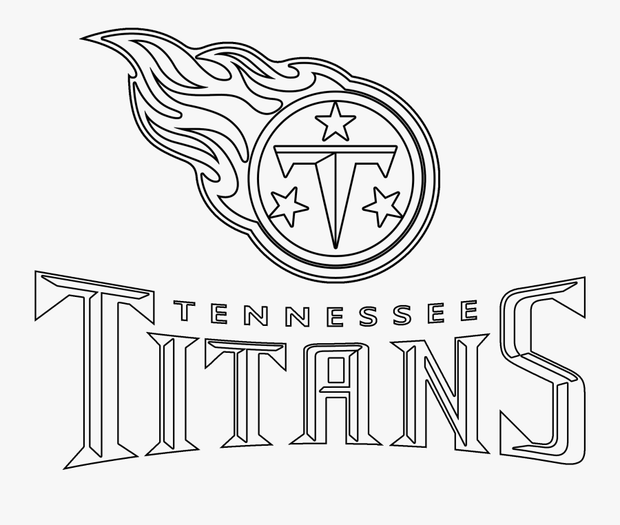 Transparent Tennessee Clipart - Tennessee Titans Logo Black And White, Transparent Clipart