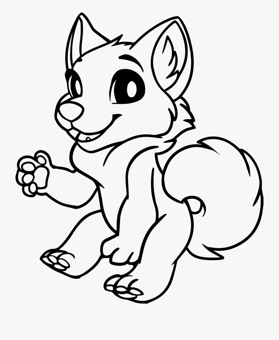 Drawn Red Panda Furvilla - Chibi Base Lines, Transparent Clipart