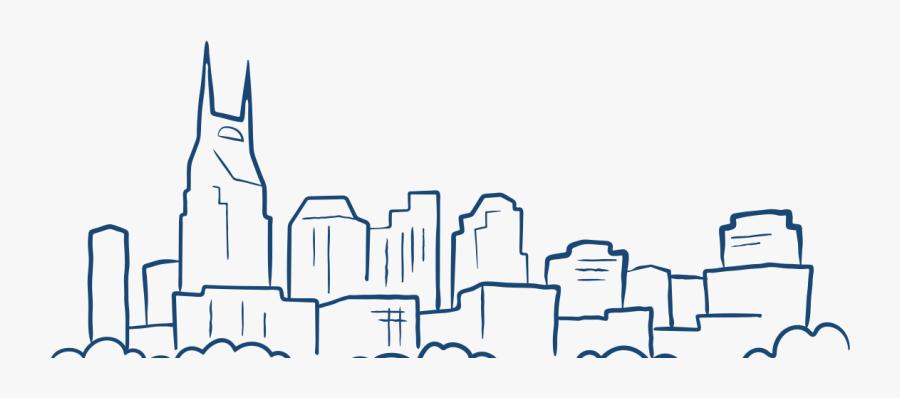 Skyline Clipart Nashville Skyline - Nashville Skyline Line Art, Transparent Clipart