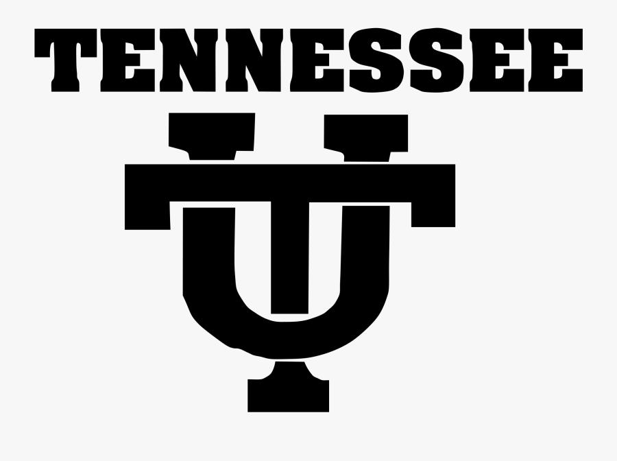Tennessee Vols Black T, Transparent Clipart