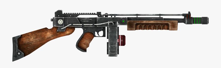 Clip Art Light Machine Gun New Vegas - Bioshock 2 Tommy Gun, Transparent Clipart