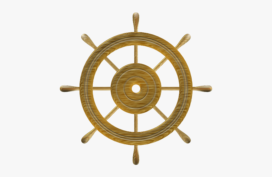 Ship Steering Wheel Compass, Transparent Clipart
