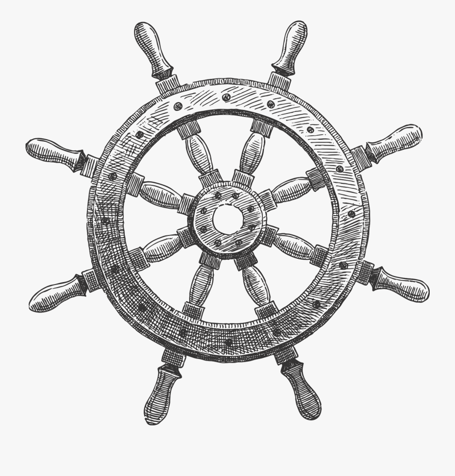 Ship Wheel Png Transparent - Ship Steering Wheel Png, Transparent Clipart