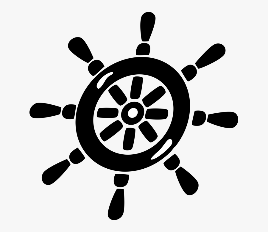 Helm Wheel Steers Ship To Change Course - Steering Wheel Logo Marine, Transparent Clipart