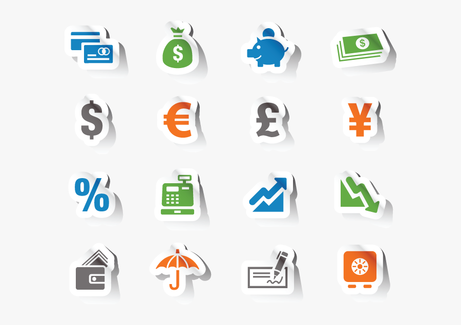Finance Icon Free Vector, Transparent Clipart