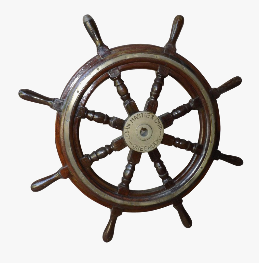 Steering Hd Quality Play - Antique Wooden Boat Steering Wheel, Transparent Clipart