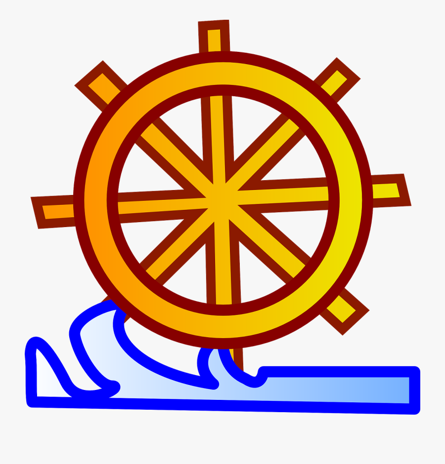 Wheel, Helm, Steering, Ship, Boat, Tiller, Sail, Water, Transparent Clipart