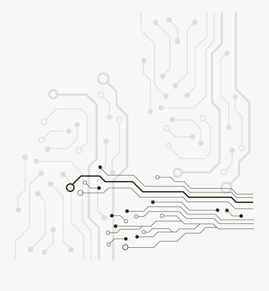 Network Vector Electrical Board Circuit Design Electronics - Lineas De Tecnologia Png, Transparent Clipart