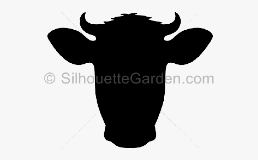 Cow Head Silhouette - Cow Head Silhouette Clip Art, Transparent Clipart