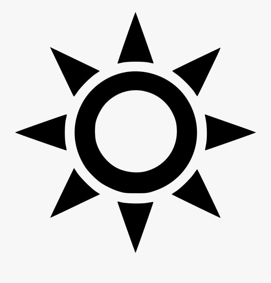 Sun Outline Comments - Transparent Sun Black Png, Transparent Clipart