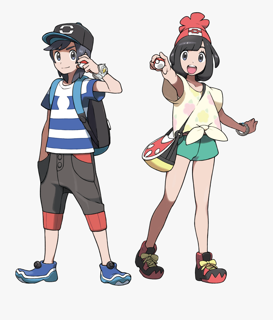 Pokemon Sun Moon Main Character Clipart , Png Download - Gen 7 Pokemon Trainer, Transparent Clipart